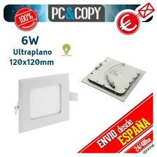 R1066 Downlight Panel LED 6W Techo Luz Blanca Cuadrada Fina Empotrable