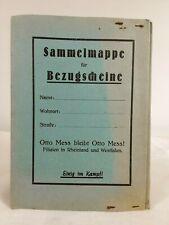 Otto Mess Sammelmappe für Bezugsscheine. ca.1920er Jahre ? // 2