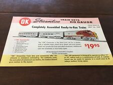 Vintage Ho Model Railroad Catalog Ok Streamline Train Sets 1957