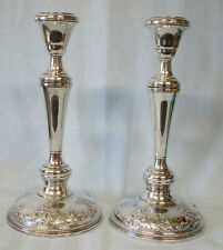 "Wallace Grand Baroque Tall 9 7/8"" Sterling Candle Sticks Pair, 3 sizes"