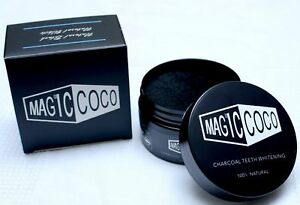 2 Magic Coco Jar Activated Carbon Teeth Whitening Organic Coco Shell Powder