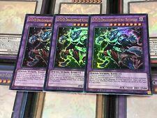 YUGIOH CARD: PLAYSET 3 X SDPD-EN041 D/D/D Dragonbane King Beowulf Ultra Rare