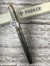 NEW OLD STOCK PARKER 75 VINTAGE FOUNTAIN PEN FIRST YEAR STERLING SILVER CISELE