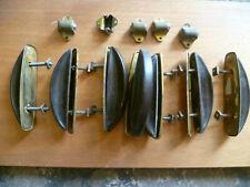 7 alte Möbelgriffe / Bagalit + 5 Kugelschlosshalter