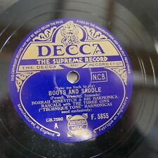 78rpm BORRAH MINEVITCH & HARMONICA RASCALS boots & saddle / music goes round &