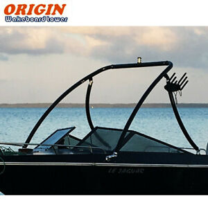 "Origin Advancer Boat Wakeboard Tower 2.25"" Tube Glossy Black 5 Year Warranty"