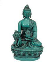 Tibetan Healing Medicine  Buddha Statue - Turquoise Resin