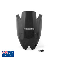 Black Double Bubble Windscreen Windshield visor Kawasaki Z1000 2010-2013 Black