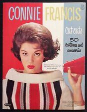 Original Connie Francis Paper Doll Book, 1963, Uncut