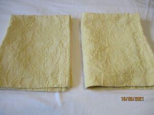 2 Yellow Matelasse Standard Pillow Shams Pottery Barn
