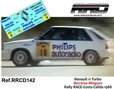 DECAL/CALCA 1/43; Renault 11 Turbo; Barreras-Minguez; Rally Costa Calida 1988