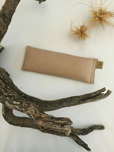 BONE Linseed Eye Pillow with eco dust cover bag 100% Cotton  Yoga Choose Scent
