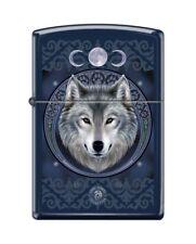 Zippo 5175 Anne Stokes Wolf Royal Blue Matte Finish Full Size Lighter