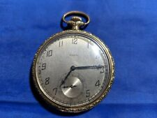1927 Antique Elgin 7j 12s Open Face Pocket Watch