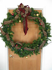 "HUGE Lighted Christmas Wreath 36"" Round Holiday / Decorative Wreath Commercial"