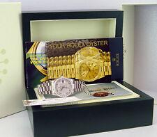 ROLEX - Mens 36mm DayDate PLATINUM President Meteorite Diamond 118346 SANT BLANC