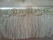"* Lace Market * French Green Bullion Tassel Trim Fringe Chainette 70mm 7cm 2.75"""