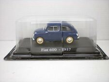 COCHE FIAT 600 AZUL OSCURO 1957 1/43 1:43 METAL CAR SEAT MINIATURA alfreedom