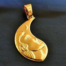 STUNNING 9K YELLOW GOLD FILLED MOON PENDANT,P0551