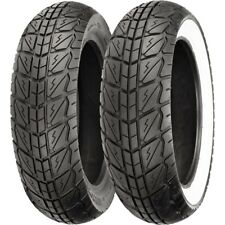 120/70 12, 130/70 12 Shinko SR723 Wide White Wall Scooter Tire Kit