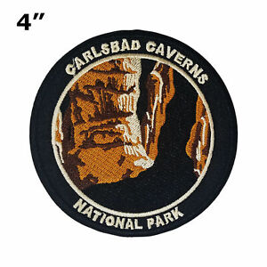 Carlsbad Caverns National Park Embroidered Iron-On Patch Souvenir Gift Applique
