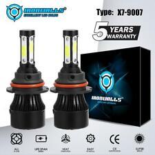 4-Sides LED Headlight Kit 9007 HB5 HI-LO Bulbs for Ford F-150 92-98 Ranger 93-11