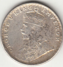 1919 BRITISH INDIA KGV KING GEORGE 5TH ONE RUPEE SILVER COIN