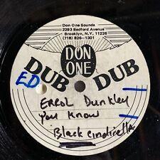 "Dubplate ERROL DUNKLEY - JIMMY RILEY Acetate METAL 10"" Vinyl Soundclash Roots Lp"