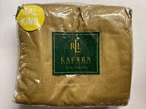 NEW Ralph Lauren Cal CALIFORNIA KING Bed Skirt RODEO DRIVE Tan Brown