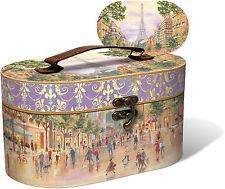 Punch Studio Boudoir Collection Oval Vanity Case – Paris Promenade 49062