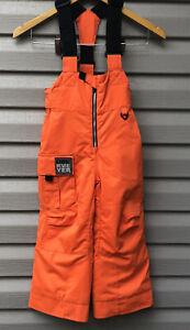 Obermeyer Kids Snow Pants Bibs Preschool Size 4 Winter Burnt Orange Unisex