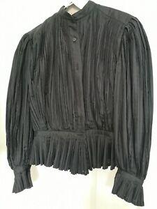 Vintage Issey Miyake Pleated Shirt Black