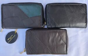 Genuine Patchwork  Soft Real  Leather Ladies  Purse Coin Pouch  2