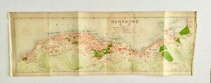HONG KONG CITY ANTIQUE MAP 1919 ORIGINAL