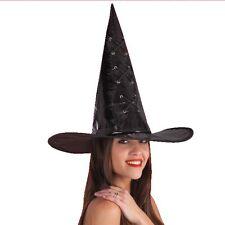 Chapeau de sorcier / sorcière vinyl noir [5705] halloween comte de fée carnaval