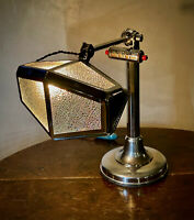 Rare Pirouette Art Deco Industrial Desk Lamp with Calendar, 1920-30s GIFT READY!