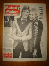 MELODY MAKER 1973 MAY 12 BOWIE STONE THE CROWS SPLIT!