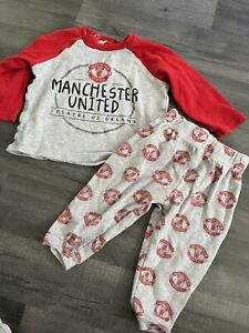 Unisex Baby 9-12 Months Official Manchester United Pyjamas