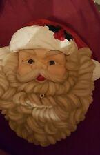 Musical Santa Claus Head Face Motion Sensor Wall Hanging Christmas