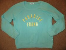 VICTORIA'S SECRET SUPERMODEL ESSENTIALS AQUA BLUE PARADISE FOUND SWEATSHIRT S