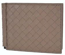 NEW Bottega Veneta Men's 390877 Woven Leather Bifold Wallet with Bill Clamp