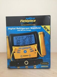 Fieldpiece SMAN360 3-Port Digital Manifold & Micron Gauge *NEW IN BOX*