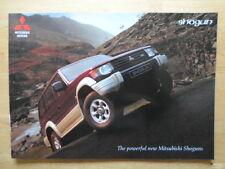 MITSUBISHI Shogun range 1996 UK Mkt prestige glossy brochure