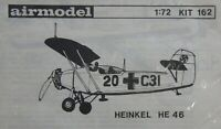 AirModel 1/72 Heinkel He 46 unmade complete vacuum-formed kit sealed bag