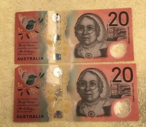 2019 $20 Banknotes Fraser/Lowe Scarcer And Difficult To Find Australian Notes