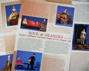 5p History Article + Pics -   Antique Rock & Graner Doll House Furniture