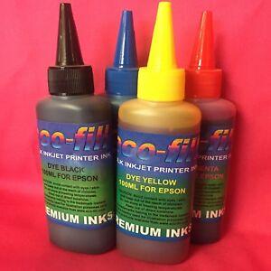 4X100ml Eco-Fill Refilling Ink For Epson Stylus S 20 21 SX100 SX105 SX110 SX115