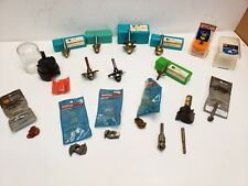 "Lot of Assorted Router bits 1/2"" and 1/4'' Shank, Bosch, Ryobi, Skil, Grizzly..."