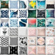 Geometric Print Cotton Pillow Case Cushion Cover Throw Sofa Car Soft Pillowcase