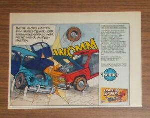 Vintage 1979 Kenner SSP Crazy Crashers playset Print Ad advert German